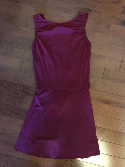 Burgundy Contemporary Dress