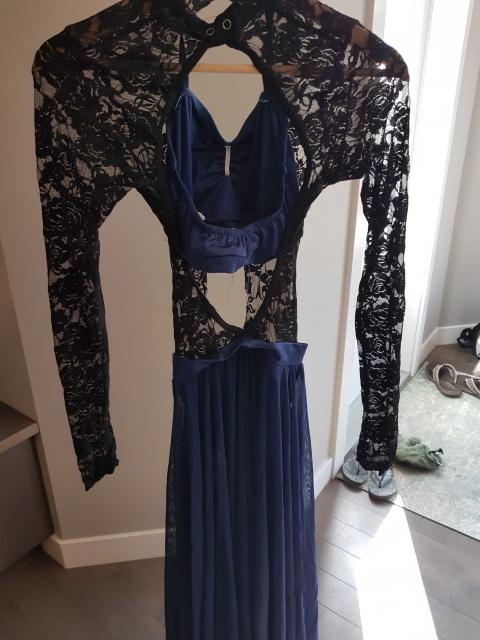 Black & Blue Long Dress
