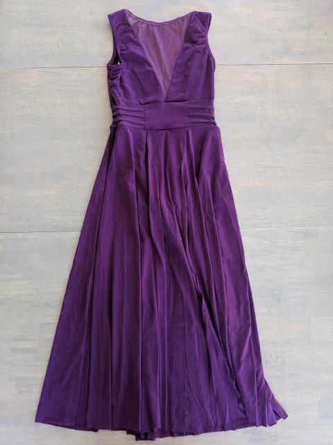 Long purple dress