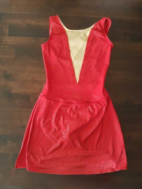 Red Shimmer Dress