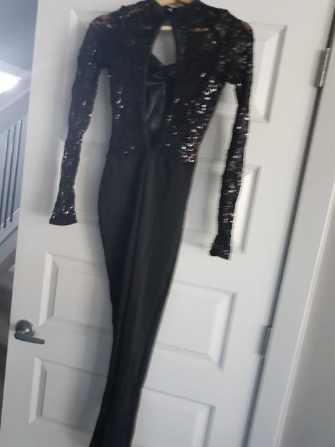 Black Sequin Unitard