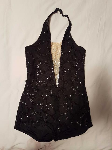 Black Sequin 1 Piece