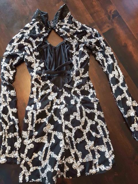 Black & Silver Sequins