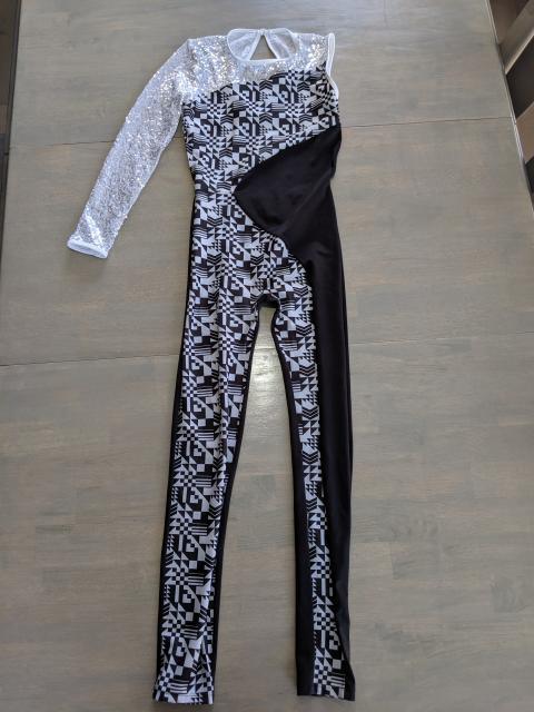 Black and white leotard