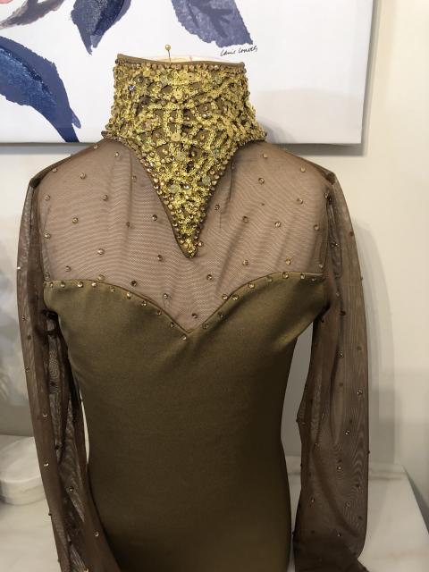 Teen gold costume